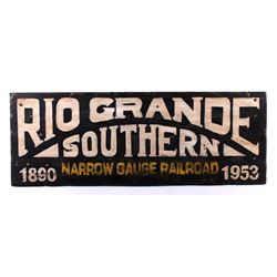 Rio Grande Southern Narrow Gauge Railroad Sign