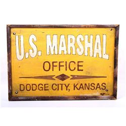 U.S. Marshal Office Dodge City, Kansas Sign