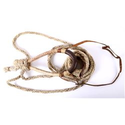 Rawhide Bosal With Rope Core w/ Horse Hair Mecate