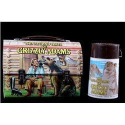 1977 Grizzly Adams Lunchbox and Thermo Bottle