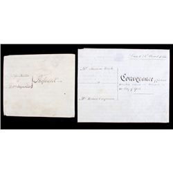 Indenture Sheep Skin Papers c. 1853