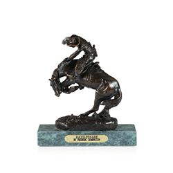 Rattlesnake Bronze Replica By Frederic Remington