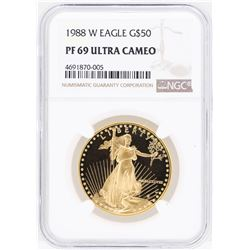 1988-W $50 American Gold Eagle Gold Coin NGC PF69