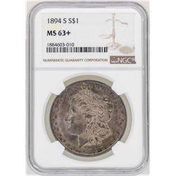 1894-S $1 Morgan Silver Dollar Coin NGC MS63+
