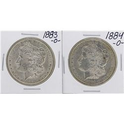 Lot of 1883-O to 1884-O $1 Morgan Silver Dollar Coins