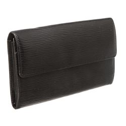 Louis Vuitton Black Epi Leather Sarah Long Wallet