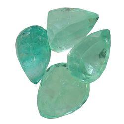 3.36 ctw Pear Mixed Emerald Parcel