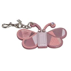 Coach Purple Leather Patchwork Butterfly Charm