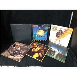 VINYL RECORD LOT (AC/DC, DEF LEPPARD, GENESIS, THE WHO...)
