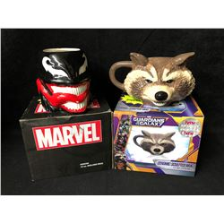 GUARDIANS OF THE GALAXY & MARVEL MOLDED MUGS LOT