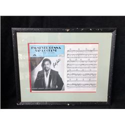 BILLY PRESTON SIGNED & FRAMED SHEET MUSIC W/ COA