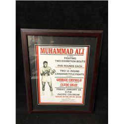 MUHAMMAD ALI REPRINT BOXING POSTER FRAMED (VANCOUVER BC)