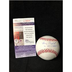 """Lenny Dykstra Signed Baseball Inscribed """"86 WS Champs"""" (JSA COA)"""