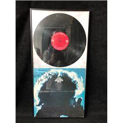BOB DYLAN SIGNED ALBUM COVER FRAMED 12 X 26