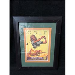 GOLF EVERY DAY OF THE YEAR FRAMED PRINT (EMPRESS HOTEL, VICTORIA BC)
