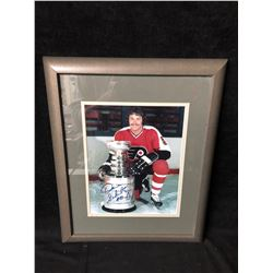 DAVE SCHULTZ SIGNED 14 X 16 FRAMED STANLEY CUP PHOTO