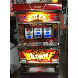 YAMASA WILDWOLF SLOT MACHINE (ACCEPTS TOKENS & COINS)