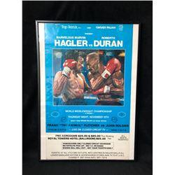 HAGLER VS. DURAN FRAMED BOXING POSTER (20 X 28)