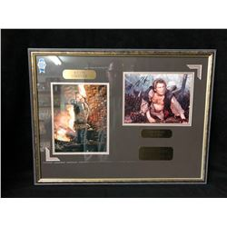 "AUTOGRAPHED CHRISTIAN SLATER & KEVIN COSTNER FRAMED PHOTOS ""ROBIN HOOD MOVIE"" (25.5"" X 19.5"")"