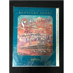 PAT DAY AUTOGRAPHED OFFICIAL KENTUCKY DERBY PROGRAM (1992)