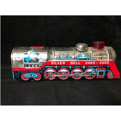 """VINTAGE TIN TOY TRAIN """"SILVER BELL CHOO CHOO"""" (MADE IN JAPAN)"""