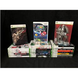XBOX 360/ Wii VIDEO GAME LOT