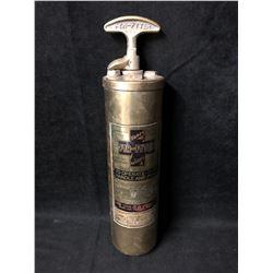 Fyr Fyter Fire Extinguisher Vintage Brass Model (Early1900's)