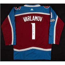 Semyon Varlamov Signed Avalanche Jersey (JSA COA)