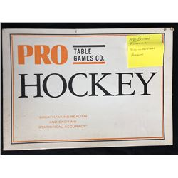 1980 TABLE GAMES CO. PRO HOCKEY GAME