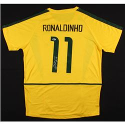 "Ronaldinho Signed Brazil Nike Jersey Inscribed ""Rio"" (Beckett COA)"