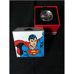 2016 $20 DC Comics Originals: Man of Steel Superman 1 oz Pure Silver Color Proof