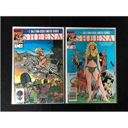 SHEENA #1/ #2 COMIC BOOK LOT (MARVEL COMICS)