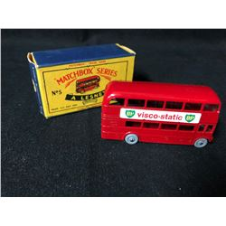 VINTAGE LESNEY MATCHBOX SERIES #5 LONDON ROUTEMASTER BUS