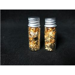 24KT GOLD LEAF VIALS LOT