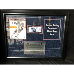 MARKUS NASLUND SIGNED GAME TICKET/ FRAMED PHOTO DISPLAY 32 X28 (GAMEDAY COA)