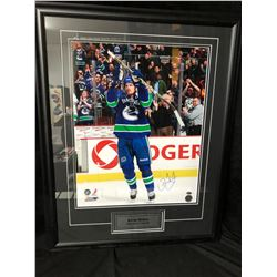DANIEL SEDIN SIGNED 22 X 30 FRAMED PHOTO (GAMEDAY COA)