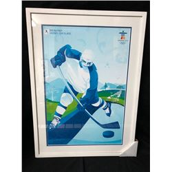 VANCOUVER 2010 OLYMPICS ICE HOCKEY 24 X 36 FRAMED PRINT