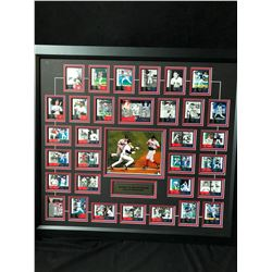 YANKEES VS. RED SOX RIVALRY 2004 ALCS TURNING POINT BASEBALL CARDS 36 X 32 FRAMED DISPLAY