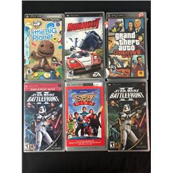 PSP VIDEO GAME LOT