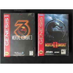 SEGA GENESIS VIDEO GAME LOT (MORTAL COMBAT 2 & 3)