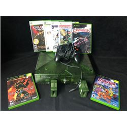 XBOX VIDEO HALO GREEN EDITION GAME SYSTEM W/ CONTROLLER & GAMES