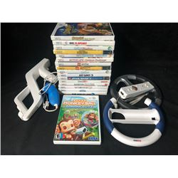 Wii VIDEO GAMES & ACCESSORIES LOT