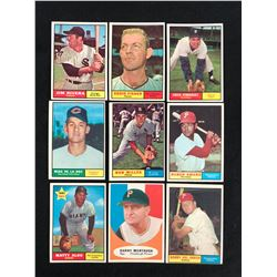 1961 TOPPS BASEBALL CARD LOT