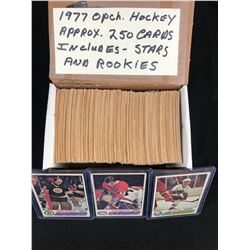 1977 O-PEE-CHEE HOCKEY CARDS (APPROX. 250 CARDS) INCLUDES STARS & ROOKIES