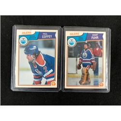 1983-84 O-Pee-Chee Hockey Card Lot (Coffey/ Fuhr)