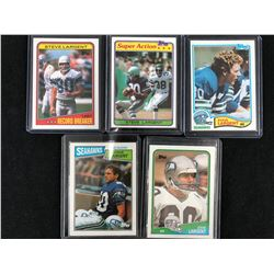 STEVE LARGENT FOOTBALL CARD LOT