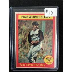 1960 WORLD SERIES GAME #5 FACE SAVES THE DAY TOPPS 1961 CARD #310