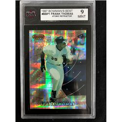 1997 BOWMAN'S BEST #BBP1 FRANK THOMAS ATOMIC REFRACTOR (9 MINT)