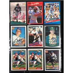 AUTOGRAPHED BASEBALL CARD LOT