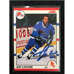 Guy Lafleur Autographed 1990-91 Score Hockey Card